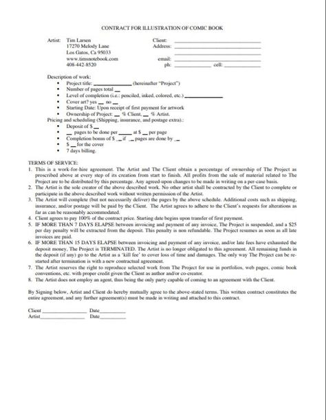Sample Work For Hire Agreement Work for Hire Agreement Template - nanny agreement contract
