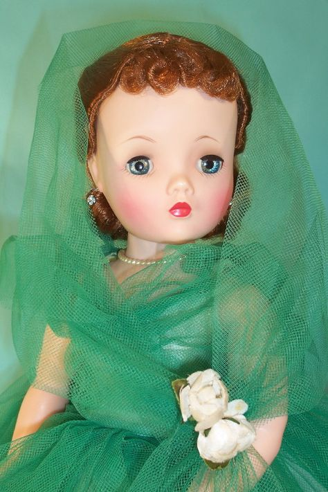 """Cissy """"The Lady In Green"""" Madame Alexander These were very special dolls...I wasn't allowed to play with mine...just Look:)"""