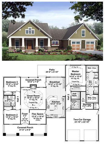 Cool House Plan Id Chp 37255 Total Living Area 2067 Sq Ft This Beautiful Craftsman Desig New House Plans Craftsman Style House Plans Craftsman House Plans