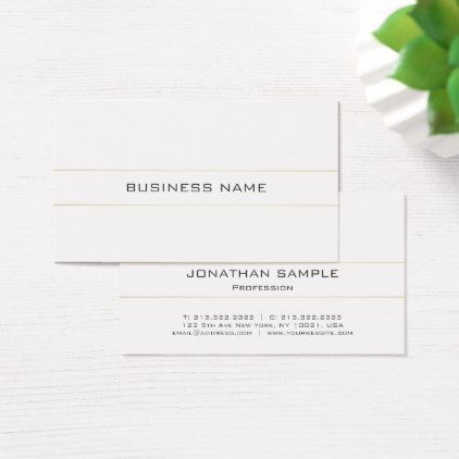 Trendy Elegant Modern Plain Gold White Minimalist Business Card Attorney Lawyer Business Perso Minimalist Business Cards Corporate Business Card Business Diy