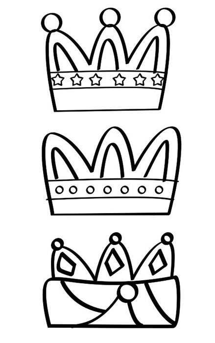 Colorear Coronas Reyes Magos Coronas De Reyes Magos Manualidad Reyes Magos Reyes Magos Dibujos