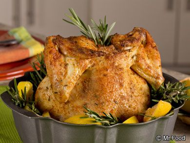 """Bundt Pan Chicken - Who knew you could use your Bundt pan to make a delicious chicken dinner like this?! We've added our favorite spices to make it extra flavorful, so your family dinner is full of that """"OOH IT'S SO GOOD!!"""""""
