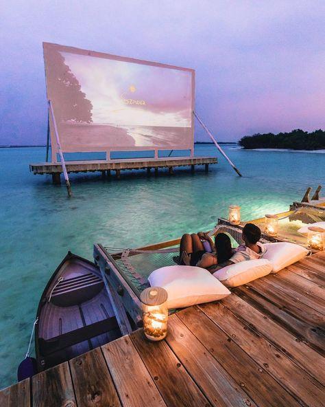 Movie projector in Maldives? Movie projector in Maldives? Vacation Places, Vacation Destinations, Dream Vacations, Vacation Spots, Vacation Wear, Tourist Spots, Holiday Destinations, Dream Dates, Destination Voyage