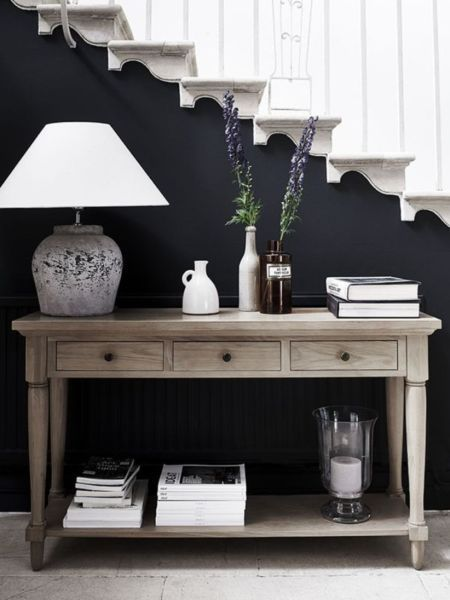 37 Inspiring Entryway Console Tables Ideas Hall Decor Oak Console Table Console Table Hallway