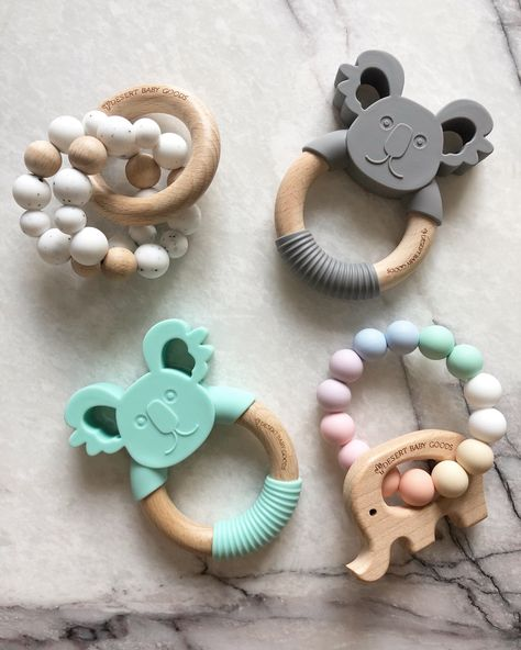 Adorable teethers for your baby boy or girl. To help them with there teething stage. They can bite a Baby Shower Gifts, Baby Gifts, Shower Baby, Baby Showers, Best Baby Boy Gifts, Baby Boy Accessories, Baby Ruth, Cool Baby Stuff, Baby Boy Stuff