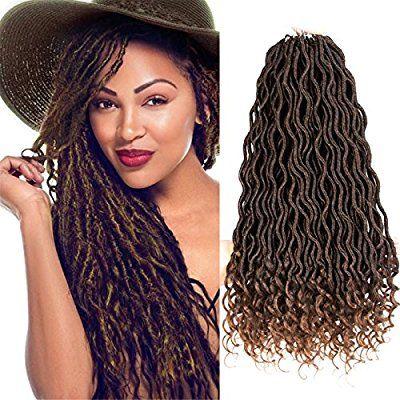 Amazon Com Curly Faux Locs Crochet Hair Deep Wave Braiding Hair