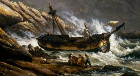 A shipwreck painting #badluck #decortips