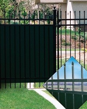 Wrought Iron Fence Privacy Options Wrought Iron Fences Iron Fence Rod Iron Fences