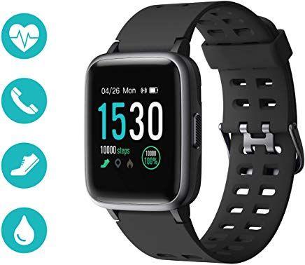 Huyeta Smart Watch Mit Pulsmesser Sport Uhr Smart Uhr Wasserdicht Fitness Tracker Aktivitatstracker Pulsuhren Mit Kalorienzahler Schlafmonitorkamerasms Far Dame