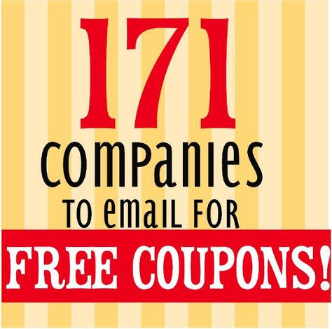171 Companies to Email For Coupons & Free Products The Binder Ladies - Saving you more so you can sp Couponing For Beginners, Couponing 101, Extreme Couponing, Start Couponing, Ways To Save Money, Money Tips, Money Saving Tips, Money Savers, Money Hacks