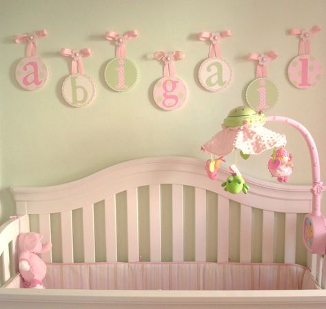 My Round Nursery Hanging Wall Letters Featured On Ohdeedoh