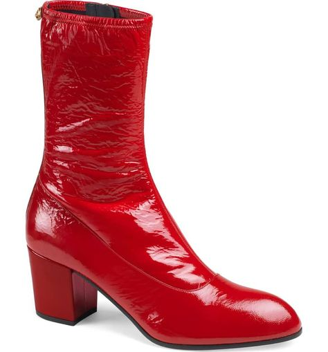 78ce450ee07d Printyl Patent Leather Zip Boot