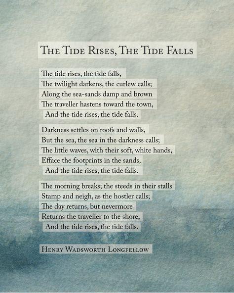 the tide rises #poetry #ocean