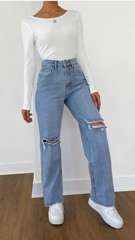 2021 wide leg jeans fashion