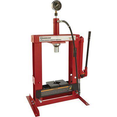 Strongway Benchtop 10 Ton Hydraulic Shop Press With Gauge Projetos De Metal Tom