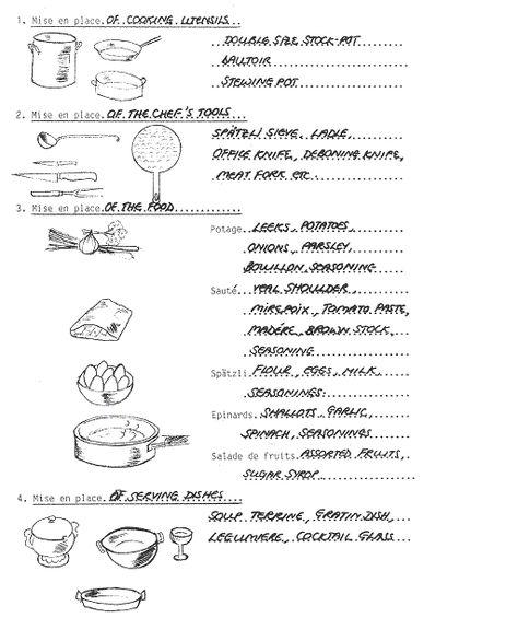 249 best FACS images on Pinterest Dinner parties, Mise en place - pick packer resume