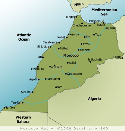 Map Of Morocco With Cities Google Search MAPS Pinterest - Cities map of algeria