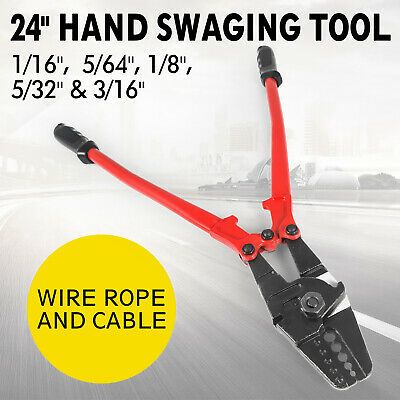 Sponsored Ebay 24 Hand Swager Swaging Crimping Tool For Wire Rope Cable Swage 1 16 3 16 In 2020 Wire Crimping Tool Crimping