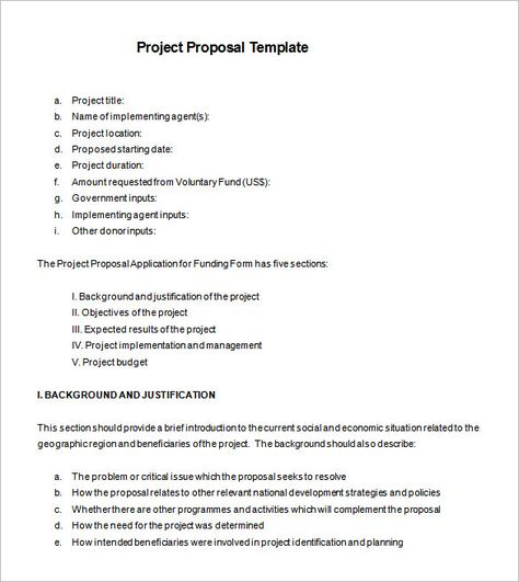 Project Proposal Template Project Proposal Template Project