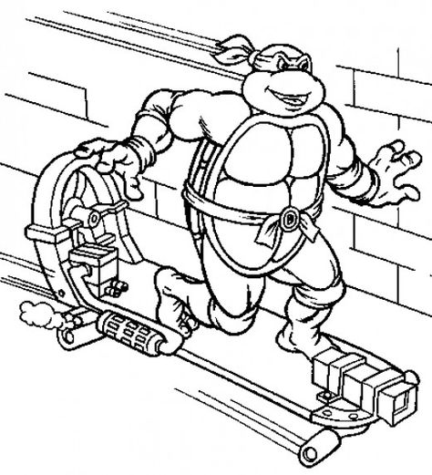 Teenage Mutant Ninja Turtles Printable Coloring Pages Printable