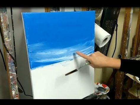 Peinture Au Couteau 4 Techniques Pour Peindre Un Ciel Youtube