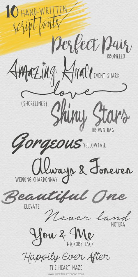 If you love fonts, these free beautiful, irresistible Hand-Written Script Fonts are perfect for your latest printables, craft projects, invitations & more.