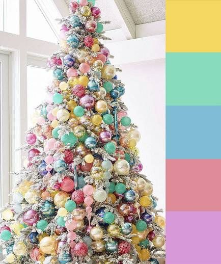 4 Christmas Tree Color Palette Ideas Colorful Christmas Tree Candy Christmas Tree Rainbows Christmas