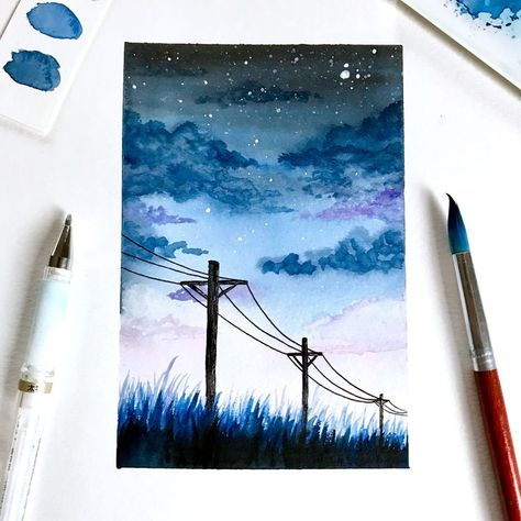 Aquarellmalerei FINE ART PRINT