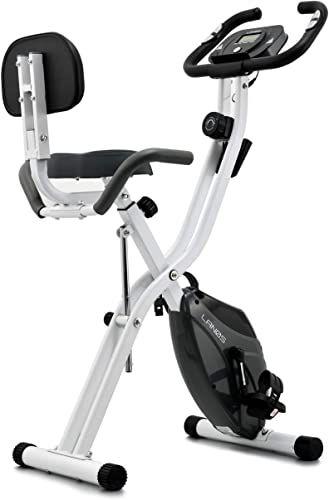 New Lanos Folding Exercise Bike 10 Level Adjustable Magnetic