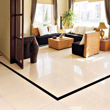 Polished Vitrified Floor Tile In 2020 Living Room Tiles Types