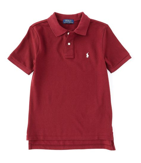 8-20 Boys Short Sleeve Mesh Polo Shirt