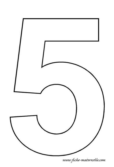 number 5 template  |   Crafts and Worksheets for Preschool,Toddler and Kindergarten