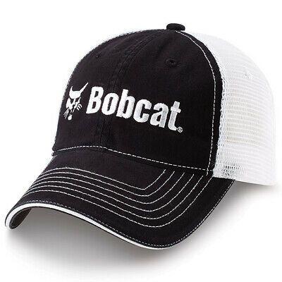 Bobcat Equipment Black White Trucker Mesh Trademark Logo Hat Cap New Bc10 In 2020 Bobcat Equipment Bobcat Hats
