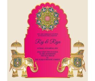 Wedding E Card Elephent Design Wedding Evite In 2021 Wedding Evites Indian Wedding Invitations Discount Wedding Invitations