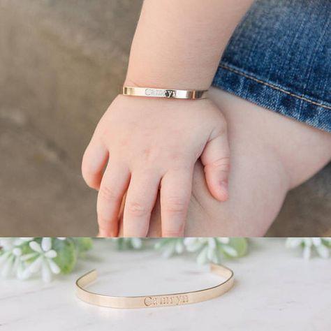 Baby Bracelet, Personalized Baby Toddler Name Bracelet, Custom Cuff for Little Girl, Initial Bracele