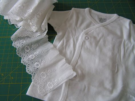 Tea Rose Home: Tutorial ~ Ruffle Top for a Baby ~