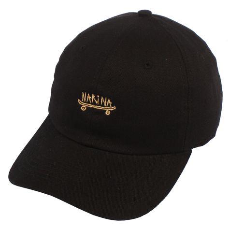 Boné Narina Dad Hat Aba Curva Skate Preto Strapback  46dc6061aae