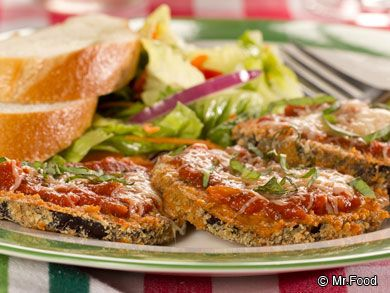 Baked Eggplant Parmigiana - This homemade Italian dinner is a great way to enjoy lighter five-star cuisine.