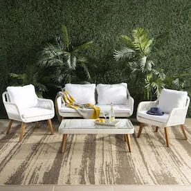 Conversation Patio Furniture At Lowes Com Resinpatiofurniture Conversation Pati In 2020 White Patio Furniture Backyard Furniture Conversation Set Patio