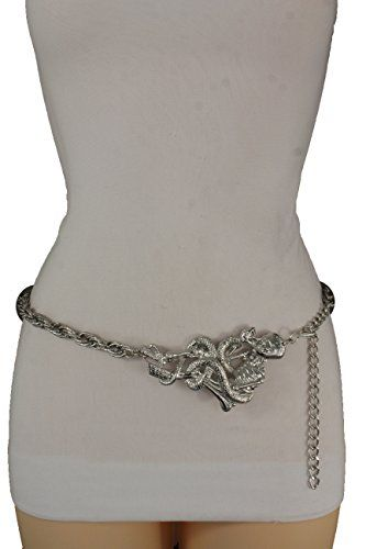Trendy Fashion Jewelry Women Fashion Belt Hip Waist Silver