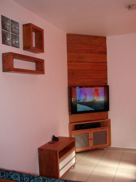 Rack de Canto para TV - Edem Marceneiro | salas | Pinterest | Living ...