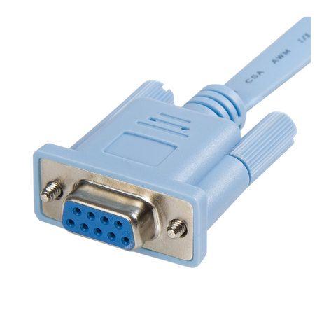 Startech Com Db9concabl6 16 45 6ft Rj45 To Db9 Cisco Console Management Router Cable M F Cable Startech Com Rj45
