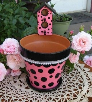Pearls and Polka Dots with Bird House for Sale and I by merrygifts, $25.00
