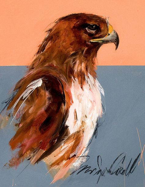 Red Tailed Hawk,greeting card, reproduction of original painting by Mona Cordell