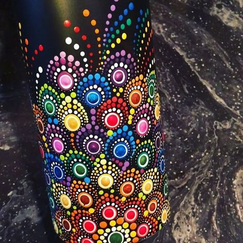 Kerri Melhoff Park The Dotted Turtle Instagram Photos And Videos Hand Painted Wine Bottles Bottle Painting Pottery Painting Designs
