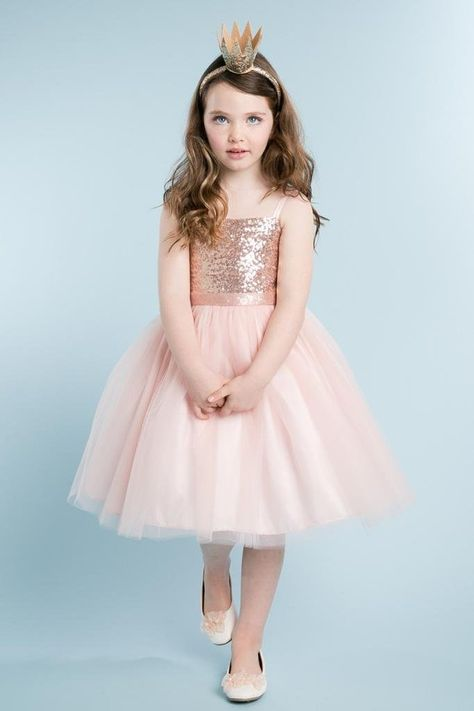 cbae60c63 Amazon.com: Little Girls' Beautiful Sequin Dress Perfect for Easter Flowers  Girls Dresses: Clothing