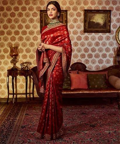 Deepika Padukone Designer Saree Brautkleid Indische Braut Indisches Kleid