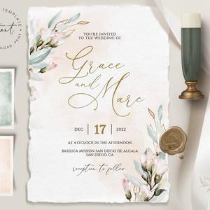 LILIA template bundle, wedding invites with rsvp Blush Geometric Wedding Invitation boho wedding invitation blush wedding invitation