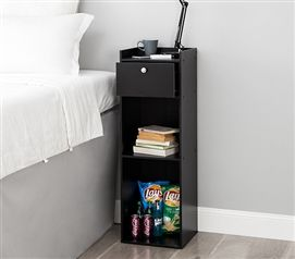 Yak About It Extra Tall Nightstand Black Tall Nightstands Dorm Nightstand Dorm Room Furniture