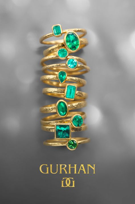 GURHAN takes stacking to new heights with 24K gold and precious gems
